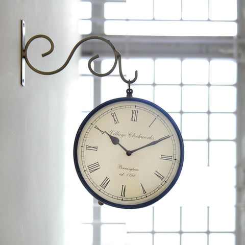 Railway Clock Brass Painting