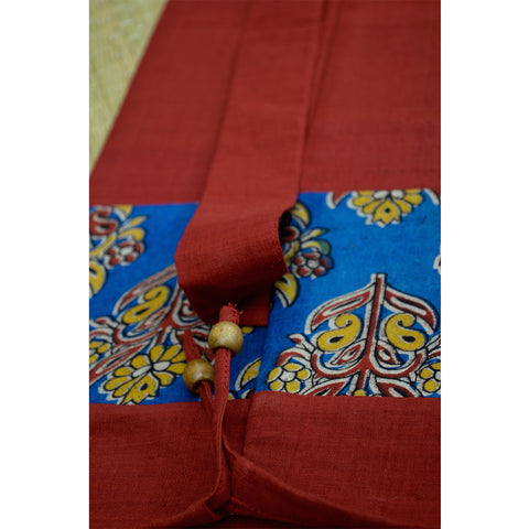 Hand-Woven Red Kalamkari Yoga Mat Bag