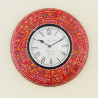 Rustic Red Wall Clock