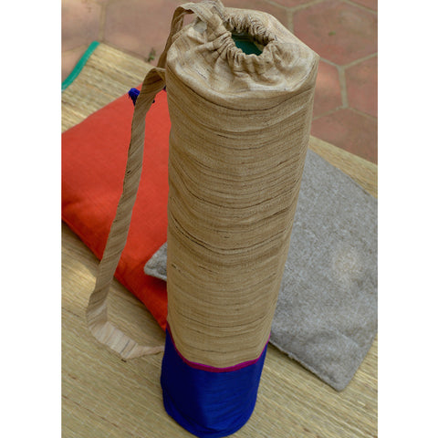 Handmade Khadi Silk Yoga Mat Bag