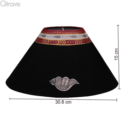 Terracotta Black EyeCatching Lamp With Warli Hand Painting