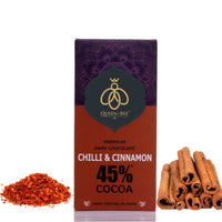 45% Chili Cinnamon Dark Chocolate