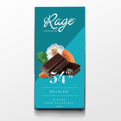 54% Dark Belgian Chocolate with Roasted Almonds Bar