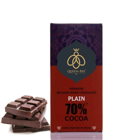 70% Plain Belgian Dark Chocolate