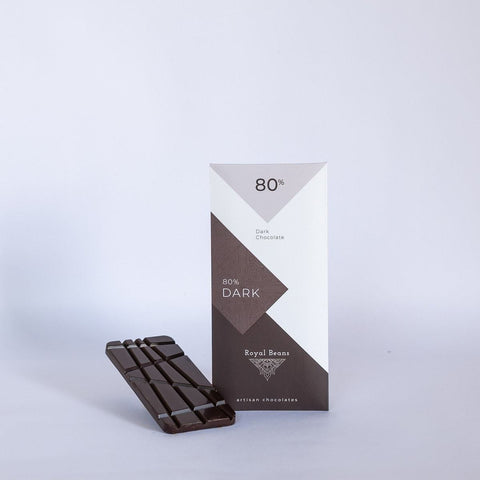 80% Dark Chocolate Bar (Belgian Handcrafted)