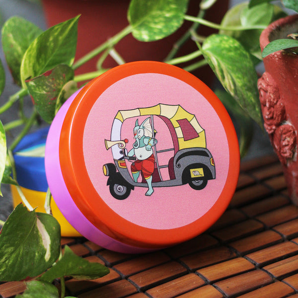 Auto Ganesha Stainless Steel Container