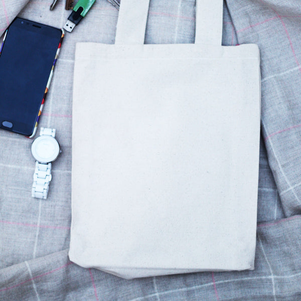 Enga Pettai Tote Bag With Blue Checks at Qtrove