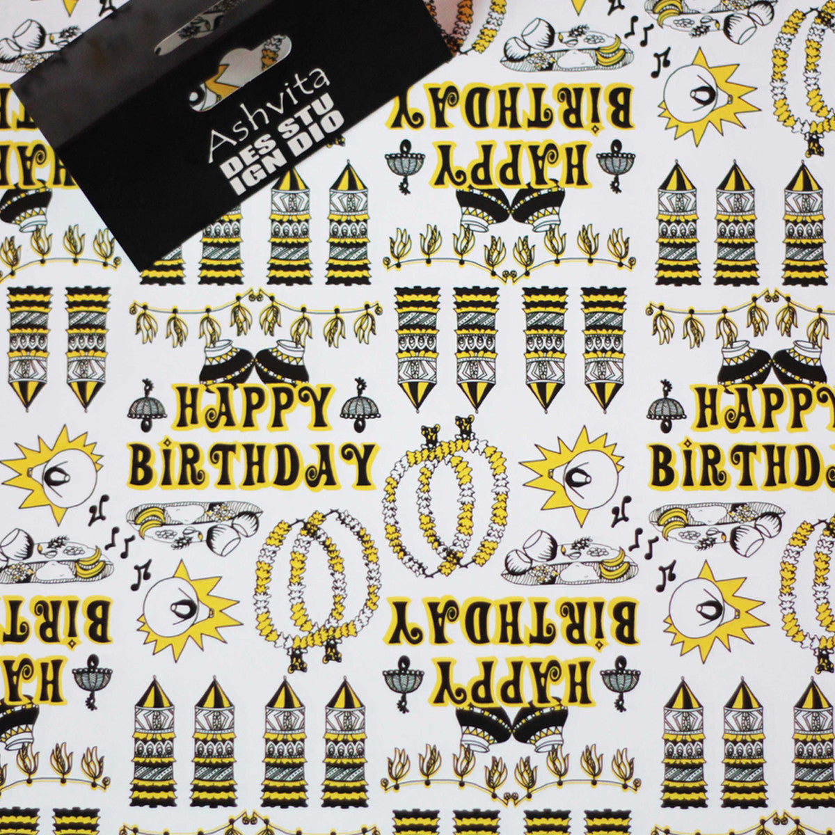 Happy Birthday Wrapping Paper Set Of 3 Qtrove