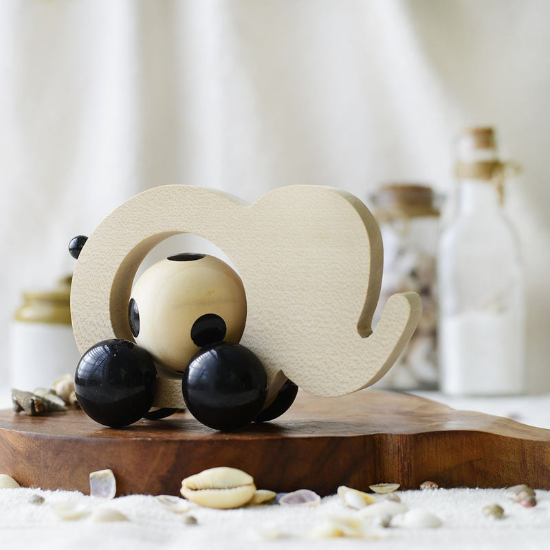 Handmade Maple Wood Appu Push Toy