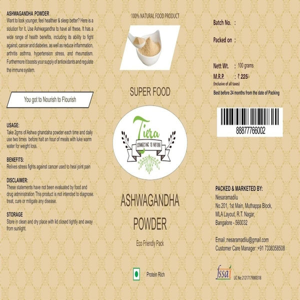 Ashwagandha Powder (100% Natural) at Qtrove