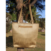 Handcrafted Aari Work Antique Gold Tote