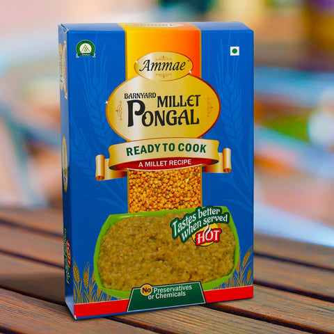 A Ready to Cook Millet Recipe (Barnyard Millet Pongal) (Pack of 2)