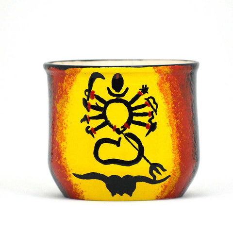 Abstract Durga Ceramic Pot