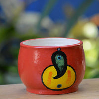 Abstract Ganesh Ceramic Pot
