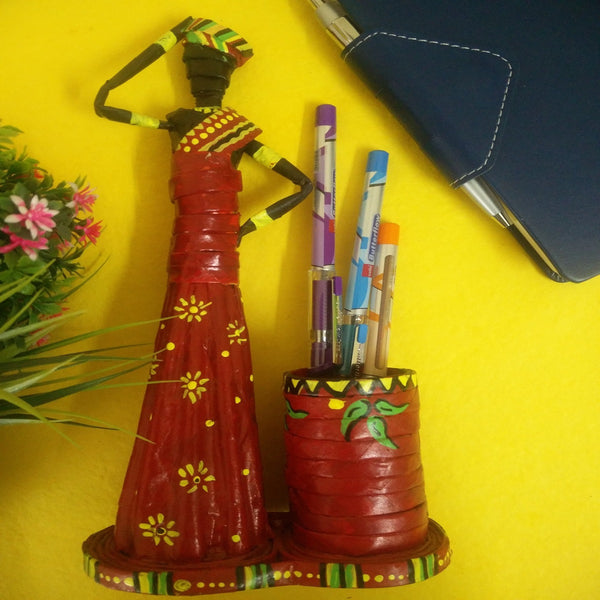 African Tribal Doll Pen Holder