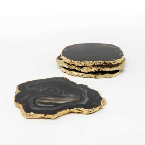 Agate Coasters (Black)(Set of 4)