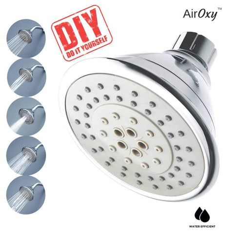 AirOxy Water Saving Shower Head 5-in-1 Flow