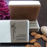Almond & Apricot Scrub Nourishing Handmade Soap With Essential Oils