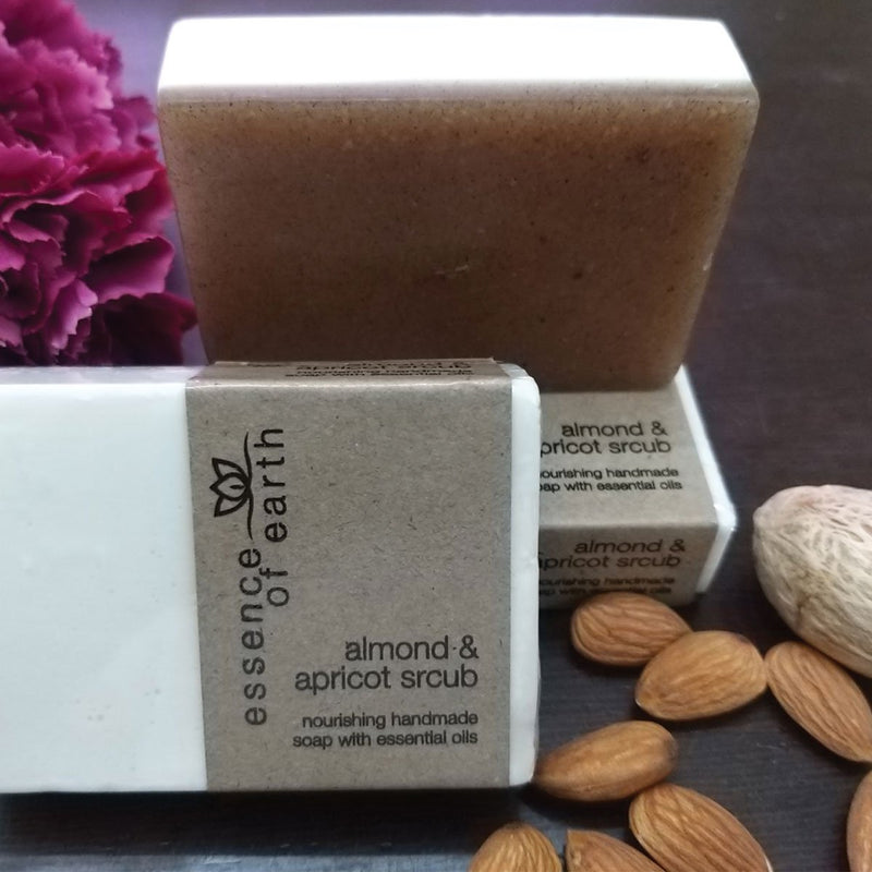 Almond & Apricot Scrub Nourishing Soap ( Pack Of 2)