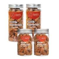 Almonds (From California) - Pack of 4, 4 x 125 g