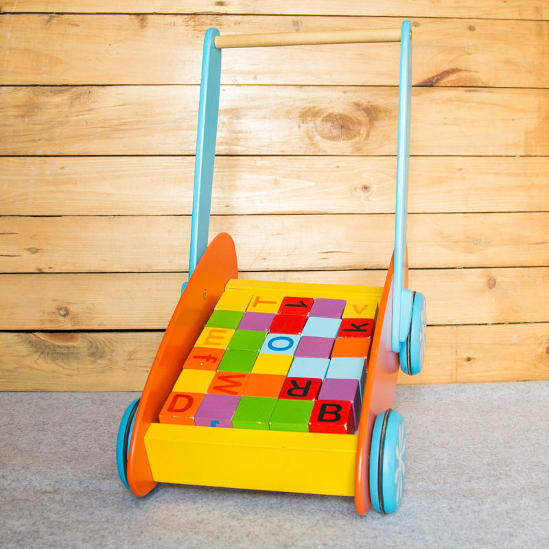 Eco-Friendly Wooden Alphabet Walker