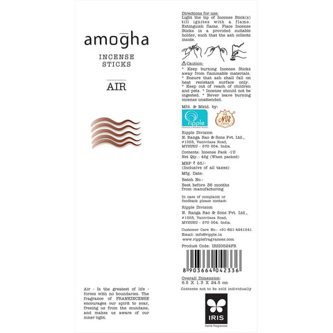 Amogha Incense Sticks - Air (Pack of 2)