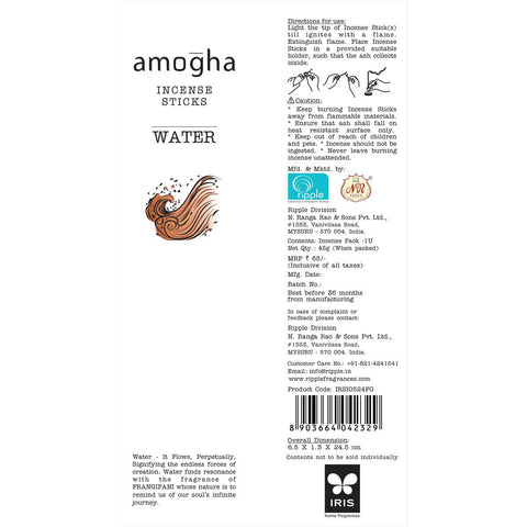 Amogha Incense Sticks - Water (Pack of 2)