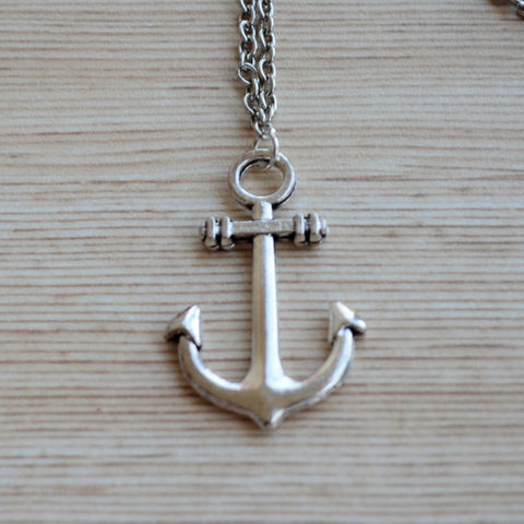 Anchor Pendant with Chain Necklace