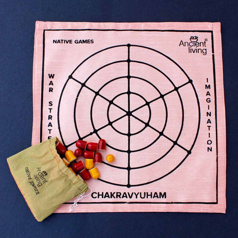 Chakravyuham Board Game - Made in Raw Silk