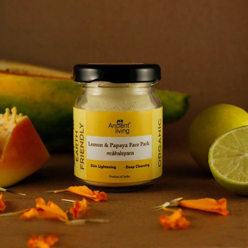 Organic Lemon and Papaya Face Pack (Pack of 2)
