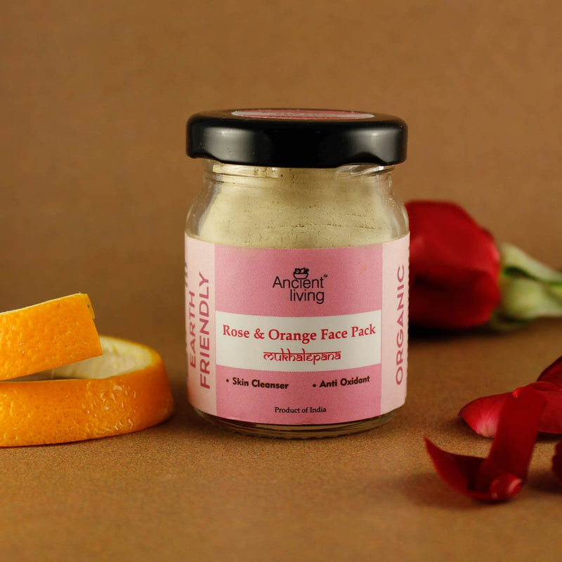 Organic Rose and Orange Face Pack (Pack of 2)