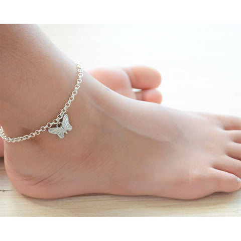 Anklet (Simple Butterfly Silver)