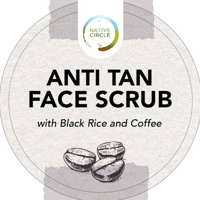 Anti Tan Face Scrub Powder (With Black Rice & Coffee)