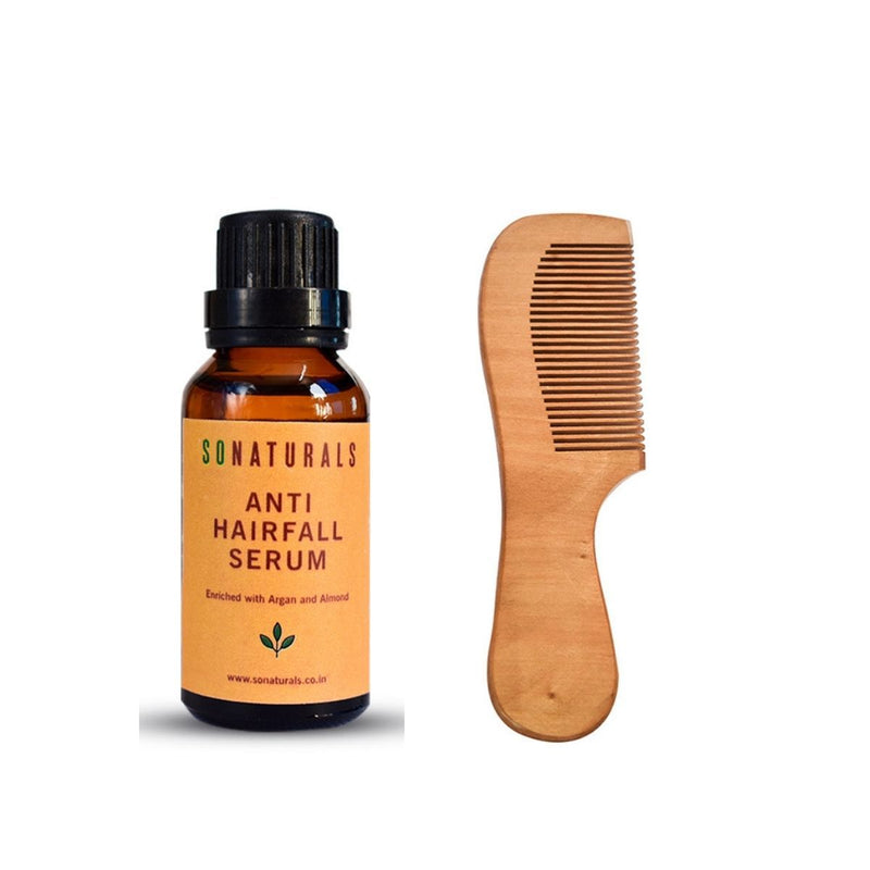 Antihairfall Serum And Sandalwood Comb (Soulful Combo)