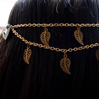 Antique Gold Leaves Headchain Bohemian