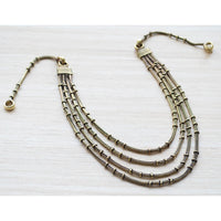 Antique Gold Multi Strand Necklace