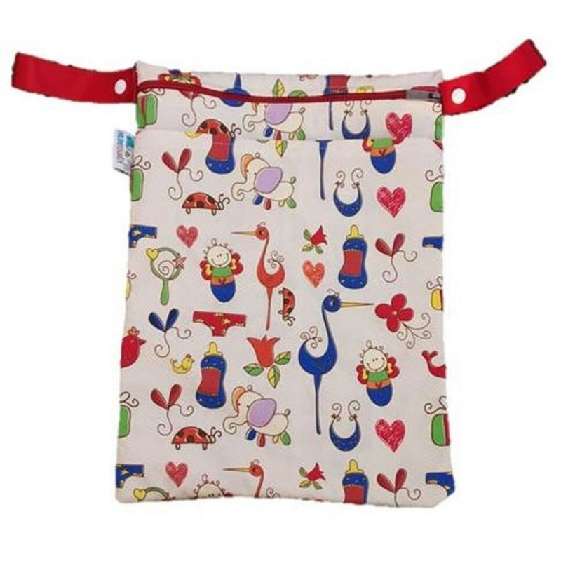 Kinder Wetbags - Large (Baby Doodle)
