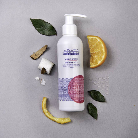Body Wash - Organic Apricot, Coconut and Honeysuckle Extracts (200ml)