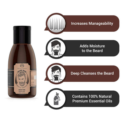 Argan & Geranium Beard Wash