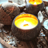 Aromatic Coconut Candle | Vegan Candle With Wooden Wick
