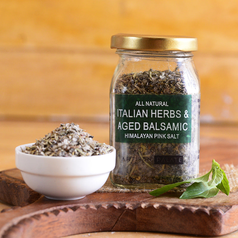 All Natural Italian Herbs & Aged Balsamic Himalayan Pink Salt