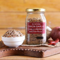 All Natural Onion Garlic Chilli Pepper Himalayan Pink Salt (Pack of 2)