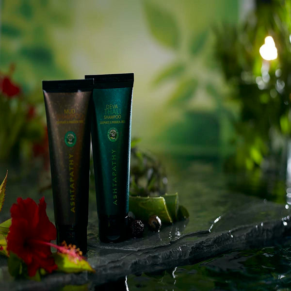Deva Thali & Mud Shampoo - Sulphate and Paraben Free (Combo Pack) at Qtrove