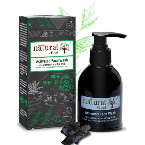 Ayurvedic Activated Charcoal & Tea Tree Face Wash