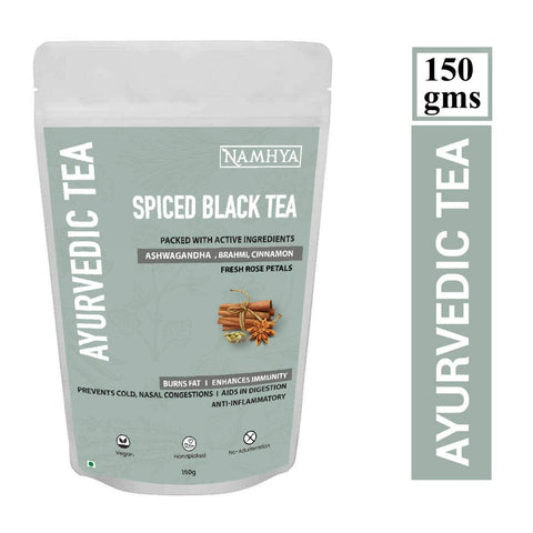 Black Tea - Spiced (Ayurvedic Tea With Ashwagandha, Brahmi, Cinnamon)