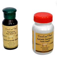 Ayurvedic Pain Relief Oil And Tooth Powder Combo (Sugar Free & Bone Free)