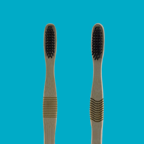 Natural Bamboo Toothbrushes (Pack of 2)