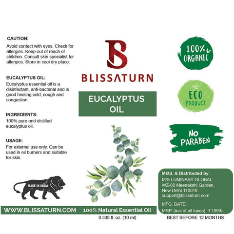 Natural Pure Distilled Eucalyptus Essential Oil
