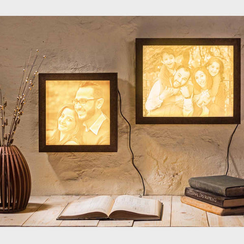 Backlit Engraved Portrait - Medium Size