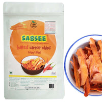 Sabsee - Baked Carrot Chips - Very Peri (Pack of 3)
